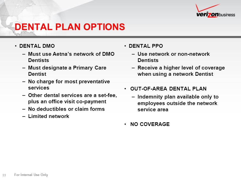 DENTAL PLAN OPTIONS DENTAL DMO