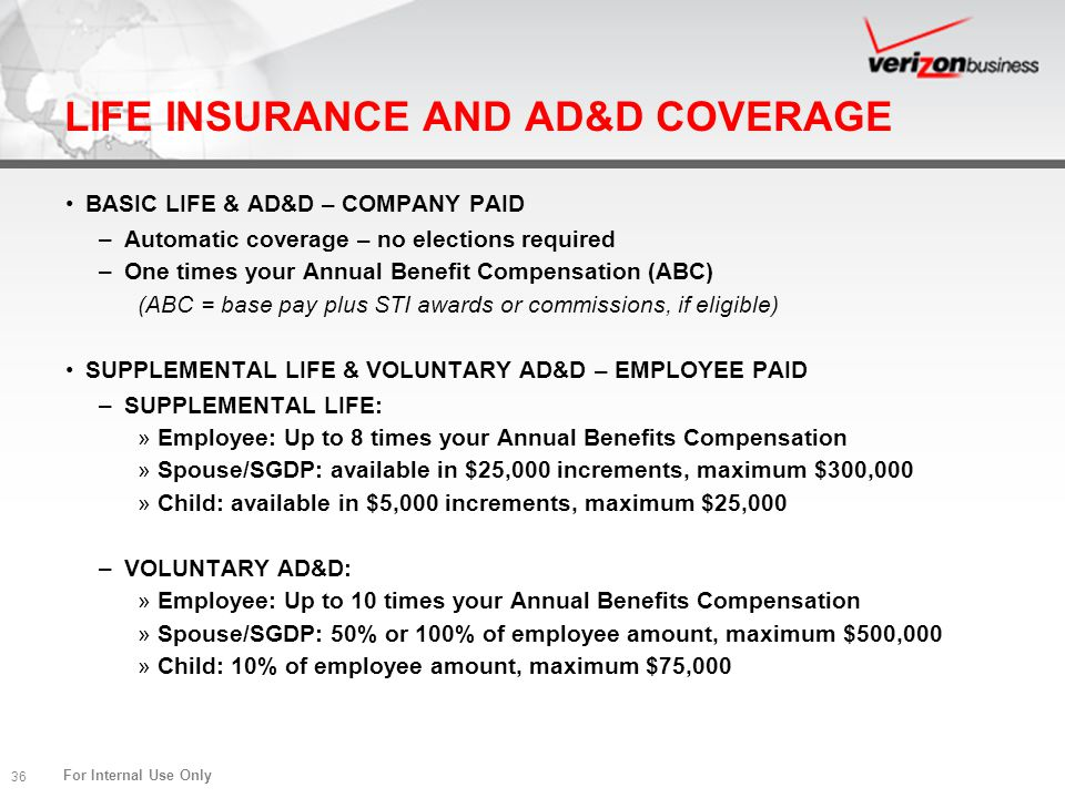LIFE INSURANCE AND AD&D COVERAGE