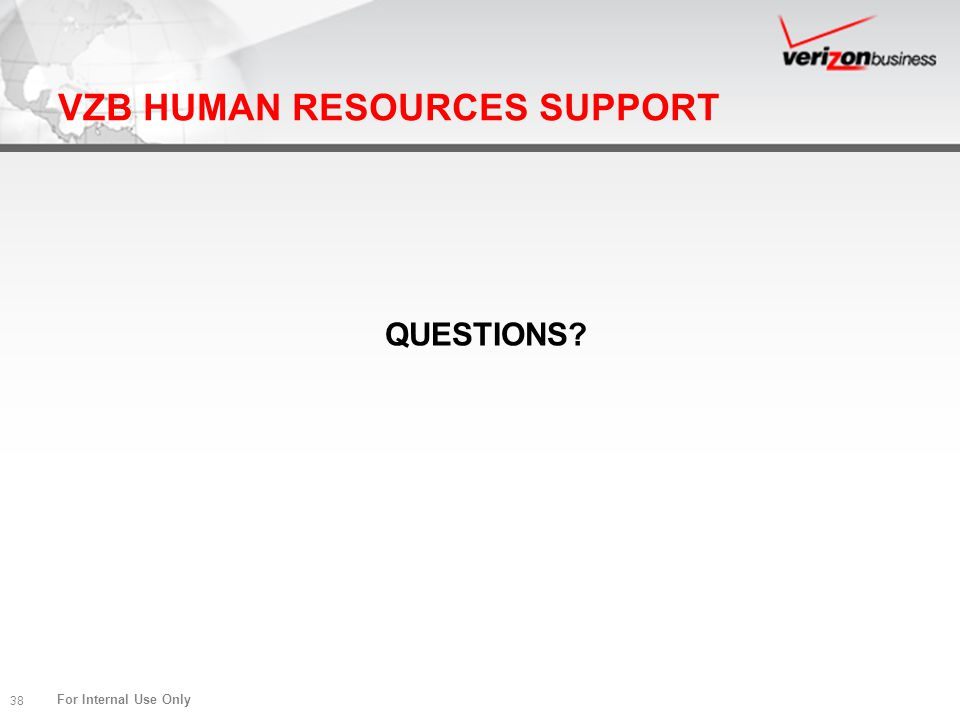 VZB HUMAN RESOURCES SUPPORT