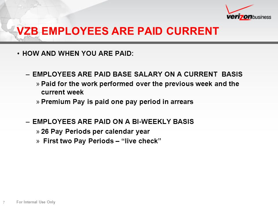 VZB EMPLOYEES ARE PAID CURRENT