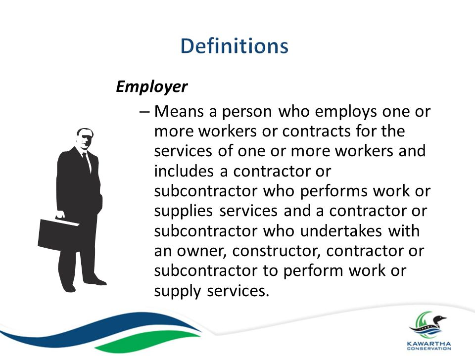 Definitions Employer.
