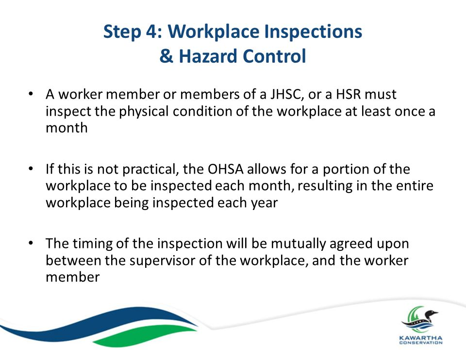 Step 4: Workplace Inspections & Hazard Control