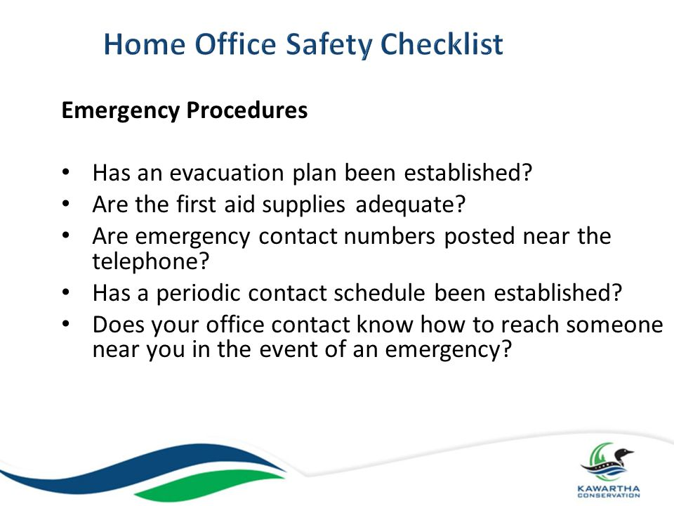Home Office Safety Checklist