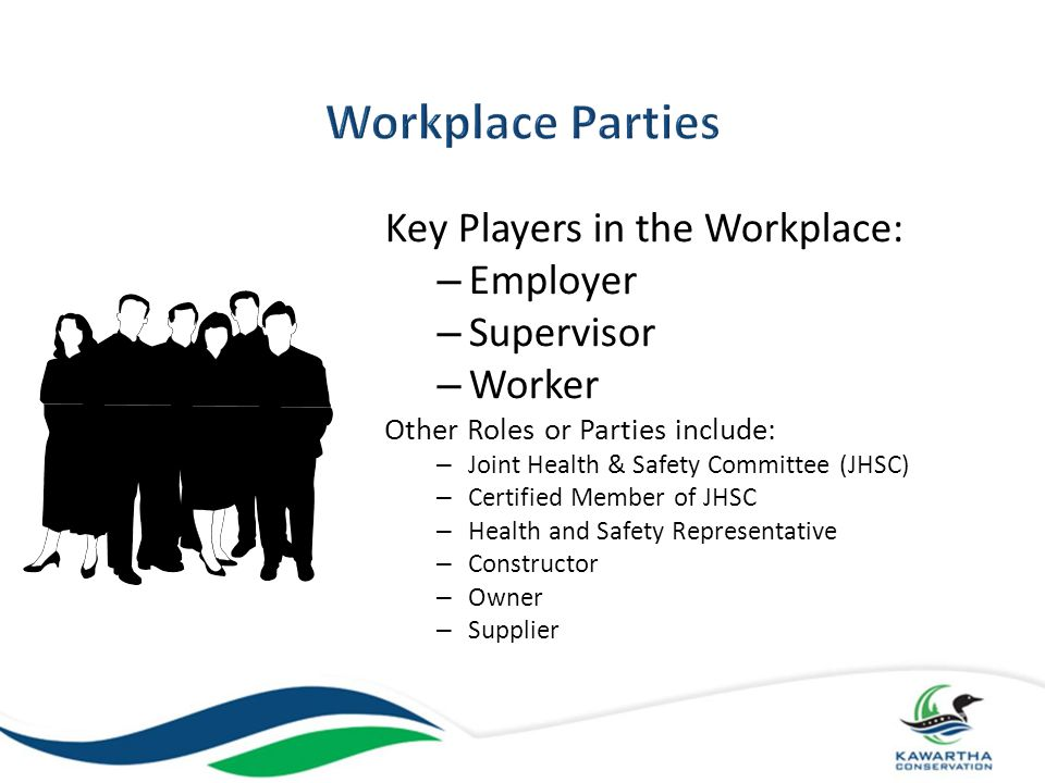 Workplace Parties Key Players in the Workplace: Employer Supervisor
