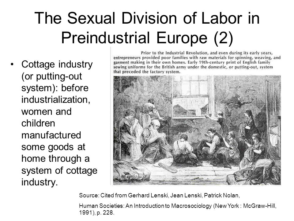 The Sexual Division of Labor in Preindustrial Europe (2)