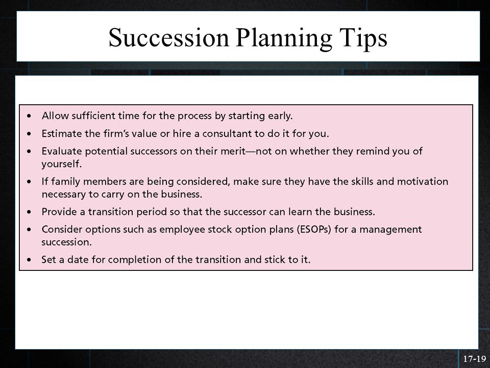 Succession Planning Tips