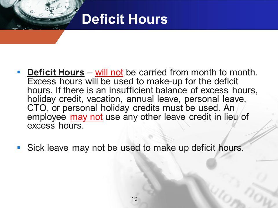 Deficit Hours