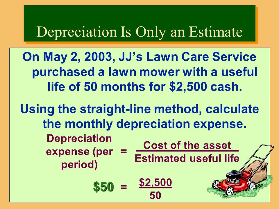 Depreciation Is Only an Estimate