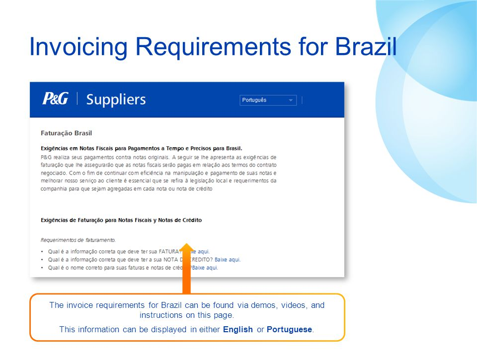 Invoicing Requirements for Brazil