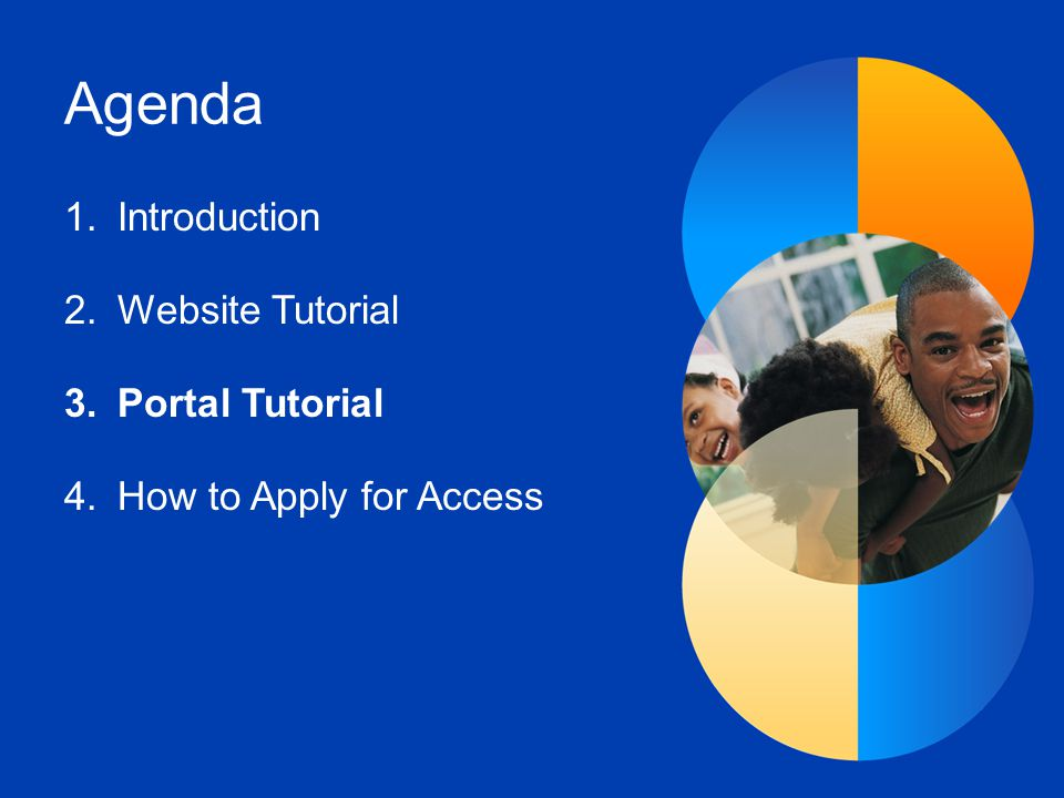 Agenda Introduction Website Tutorial Portal Tutorial