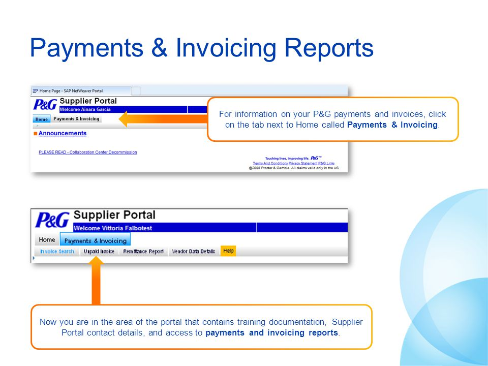 Payments & Invoicing Reports