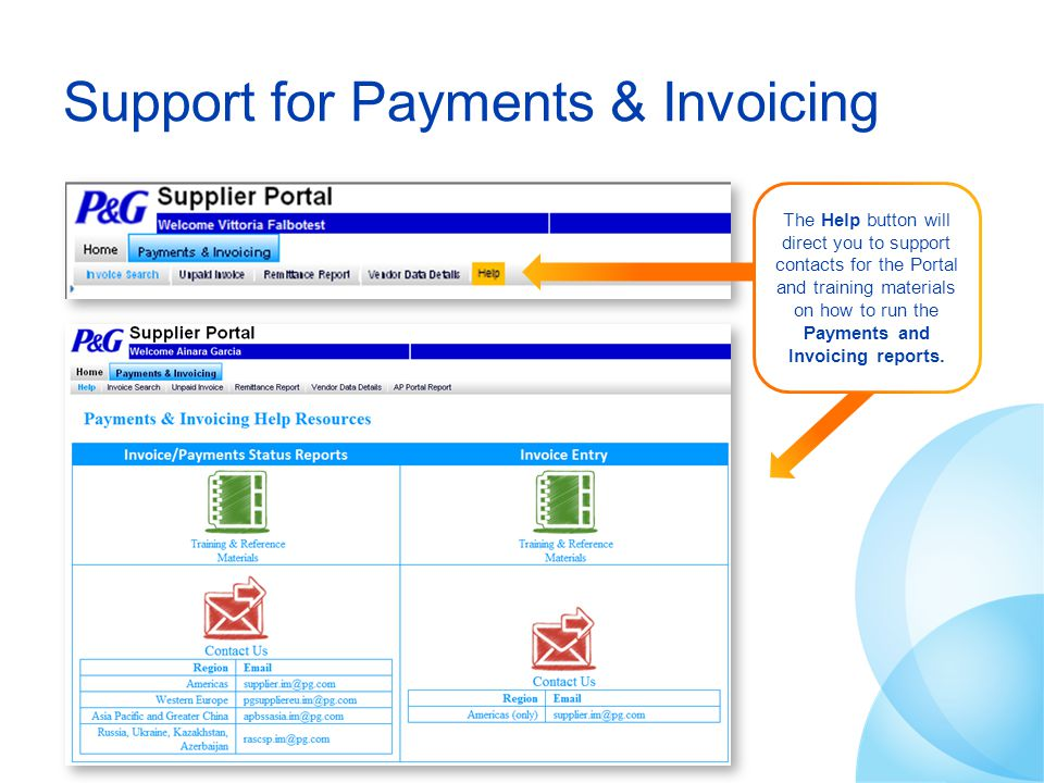 Support for Payments & Invoicing