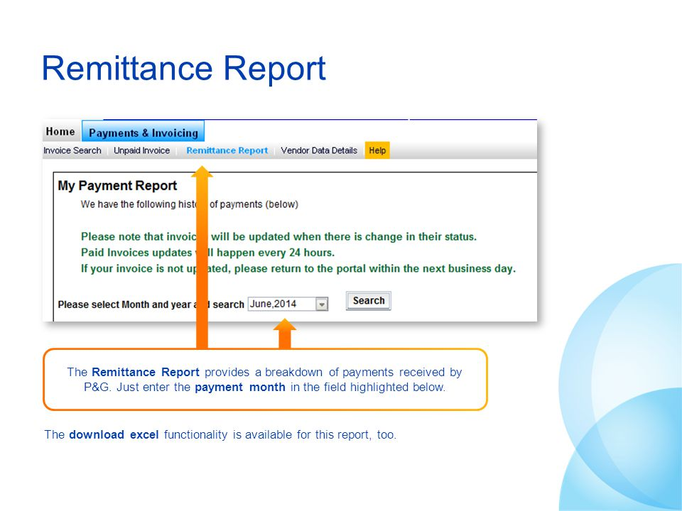 Remittance Report