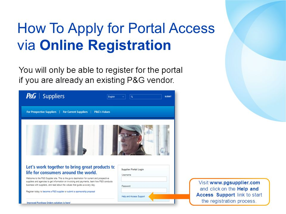 How To Apply for Portal Access via Online Registration