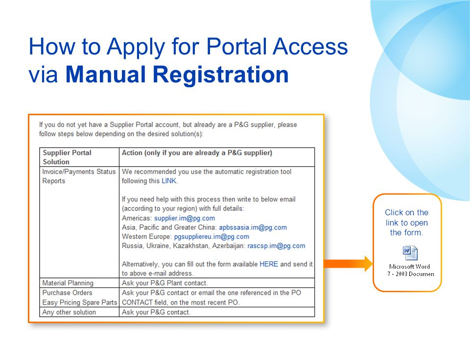 How to Apply for Portal Access via Manual Registration