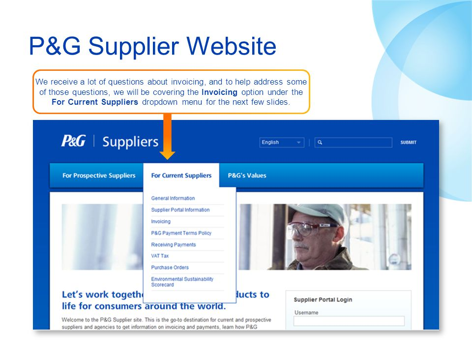 P&G Supplier Website