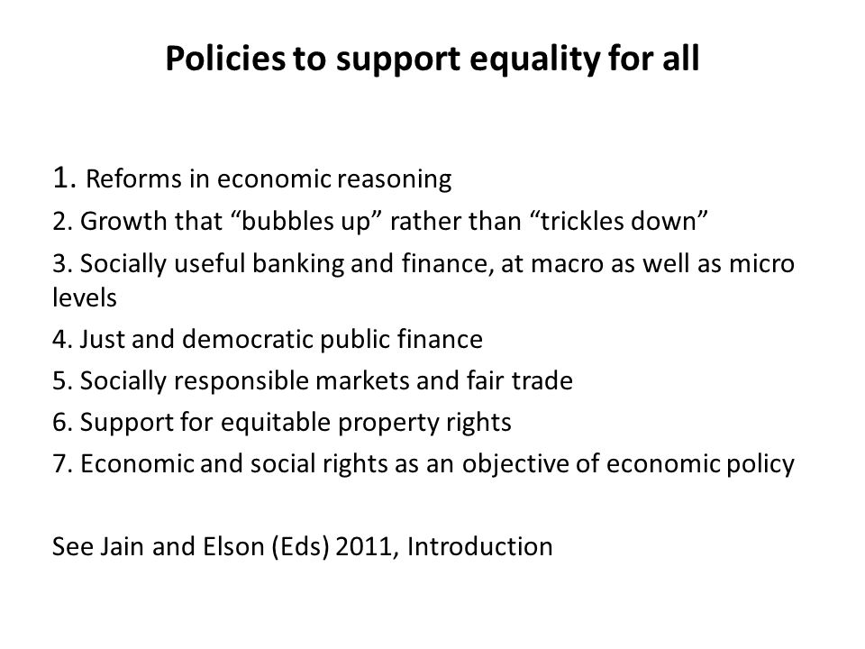 Policies to support equality for all