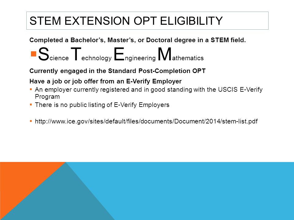 STEM Extension OPT Eligibility