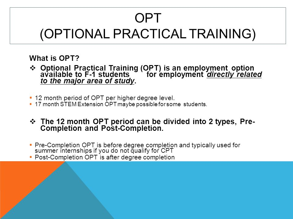 OPT (Optional Practical Training)