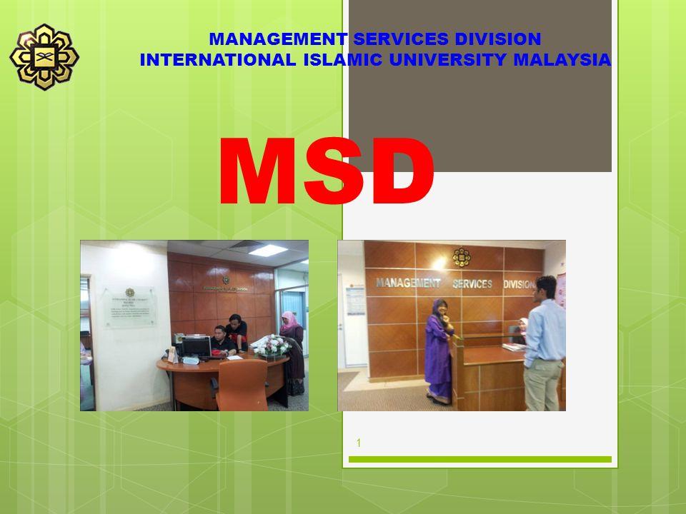MSD MANAGEMENT SERVICES DIVISION