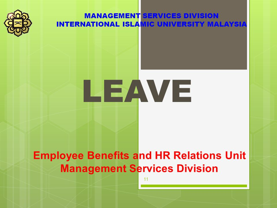 Employee Benefits and HR Relations Unit Management Services Division