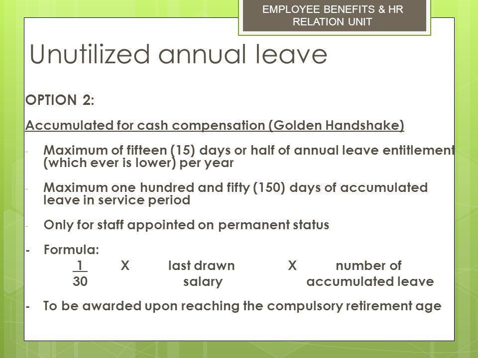 Unutilized annual leave