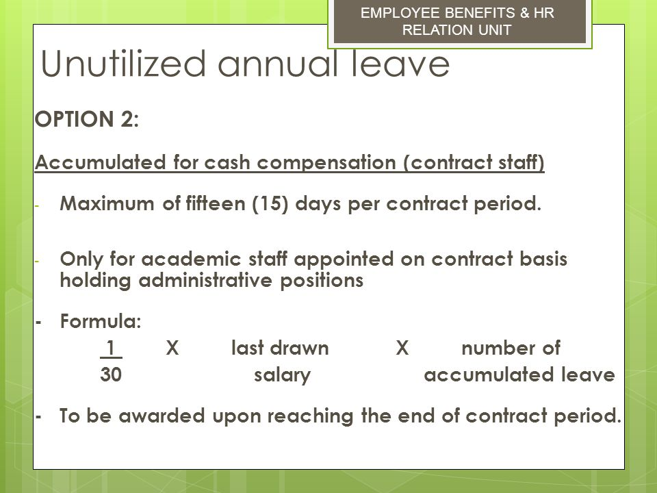 how to count annual leave