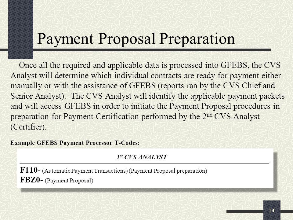 Payment Proposal Preparation