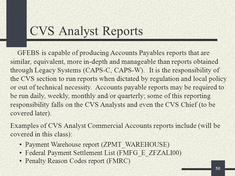CVS Analyst Reports