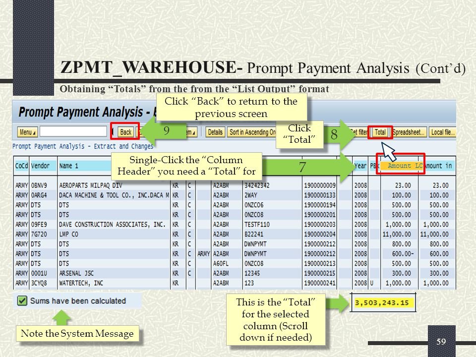 ZPMT_WAREHOUSE- Prompt Payment Analysis (Cont'd)