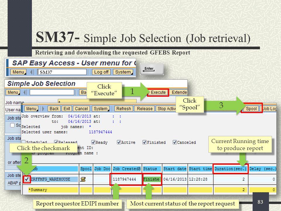 SM37- Simple Job Selection (Job retrieval)