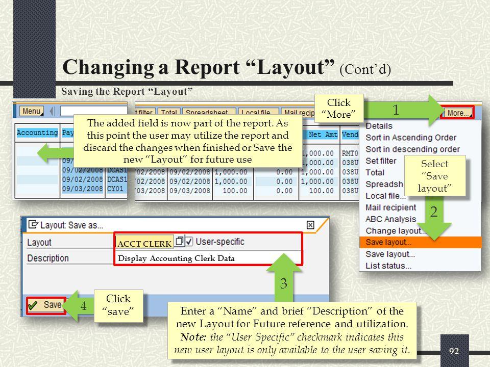 Display Accounting Clerk Data