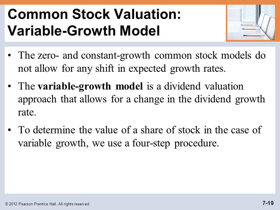 Common Stock Valuation: Variable-Growth Model