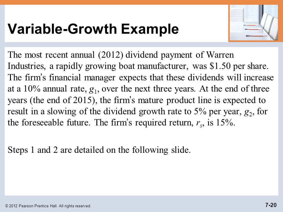Variable-Growth Example
