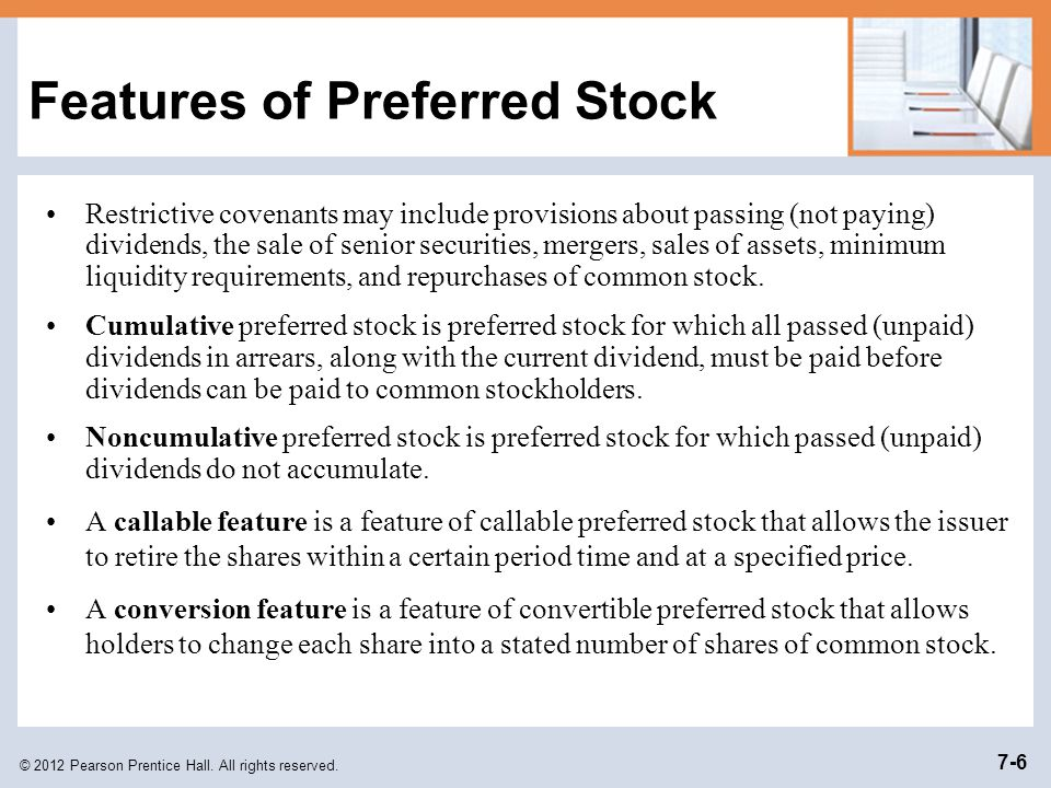 Features of Preferred Stock