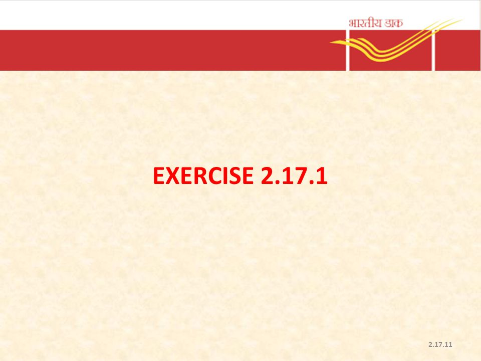 Exercise 2.17.1