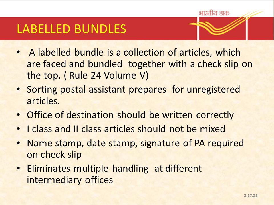 LABELLED BUNDLES