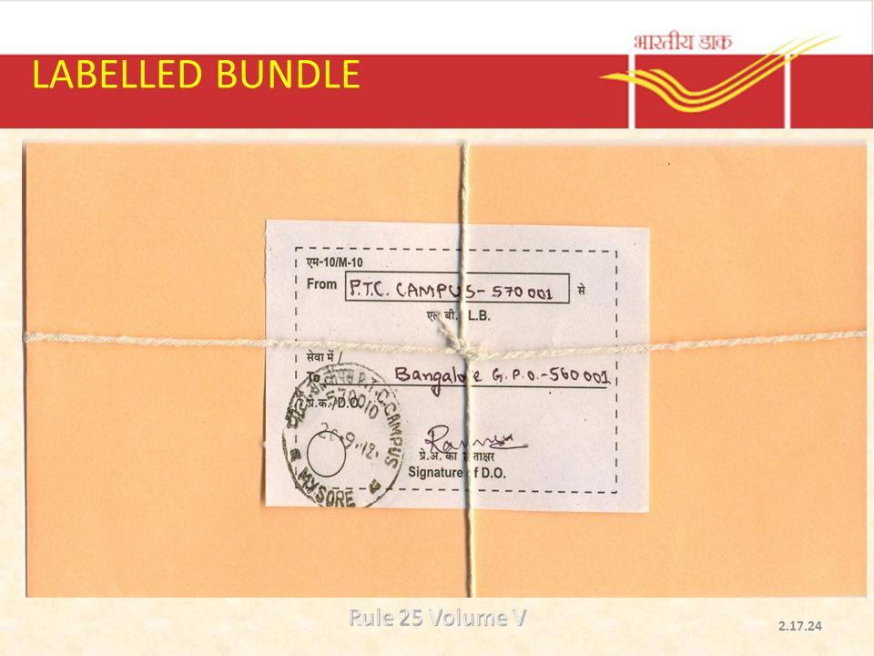 LABELLED BUNDLE Rule 25 Volume V