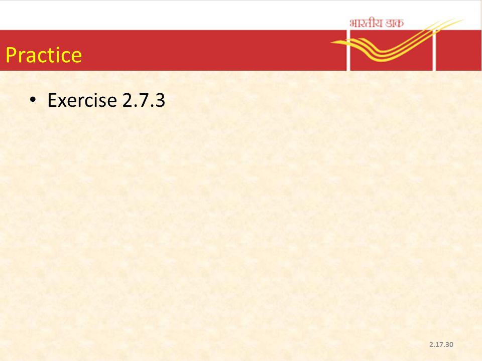 Practice Exercise 2.7.3