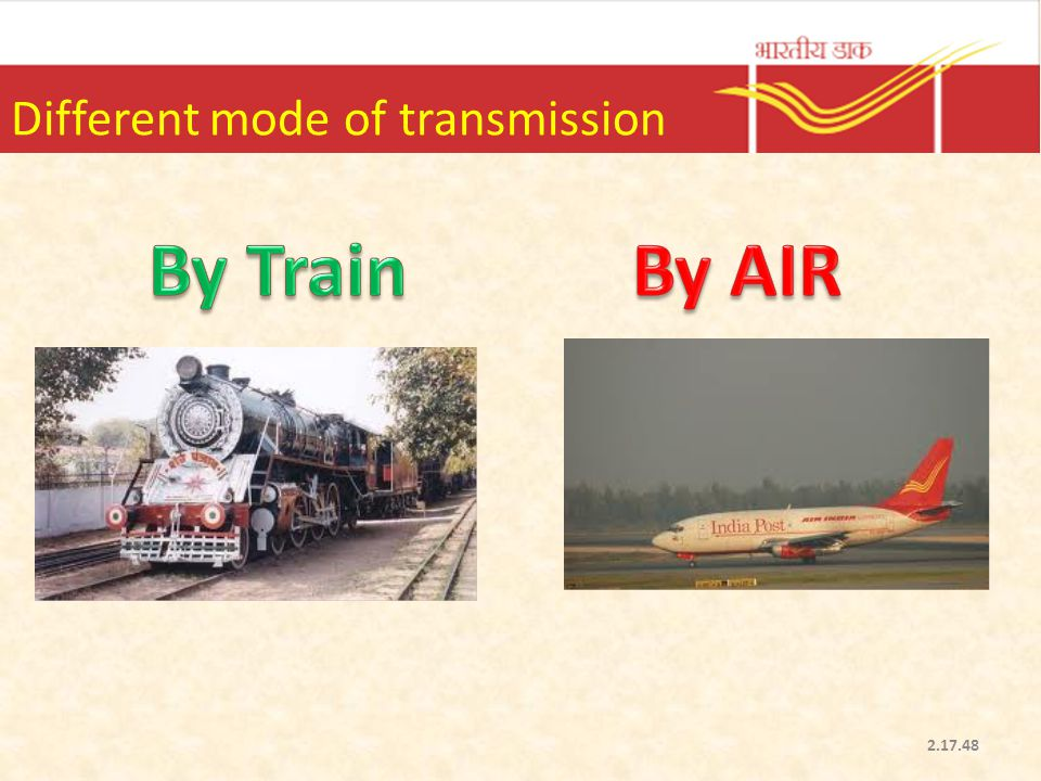 Different mode of transmission