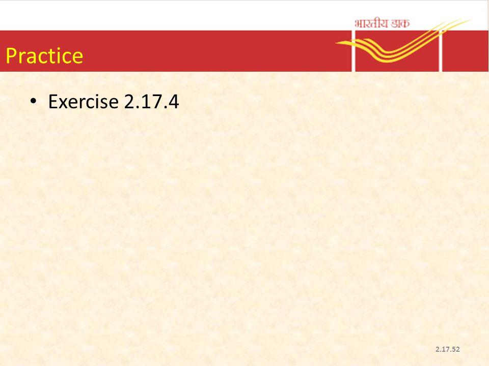 Practice Exercise 2.17.4