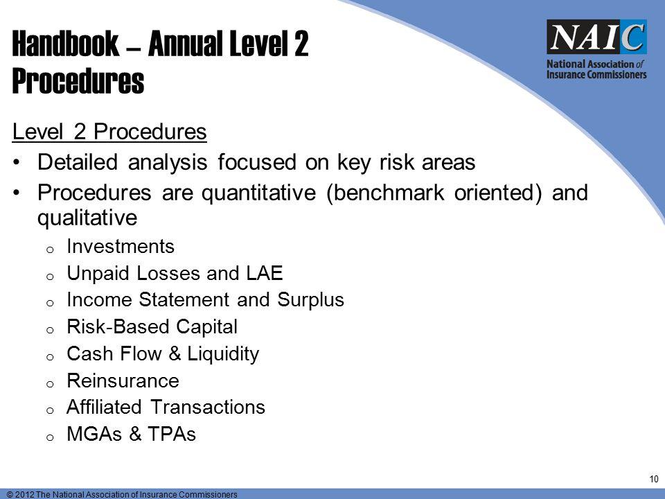 Handbook – Annual Level 2 Procedures