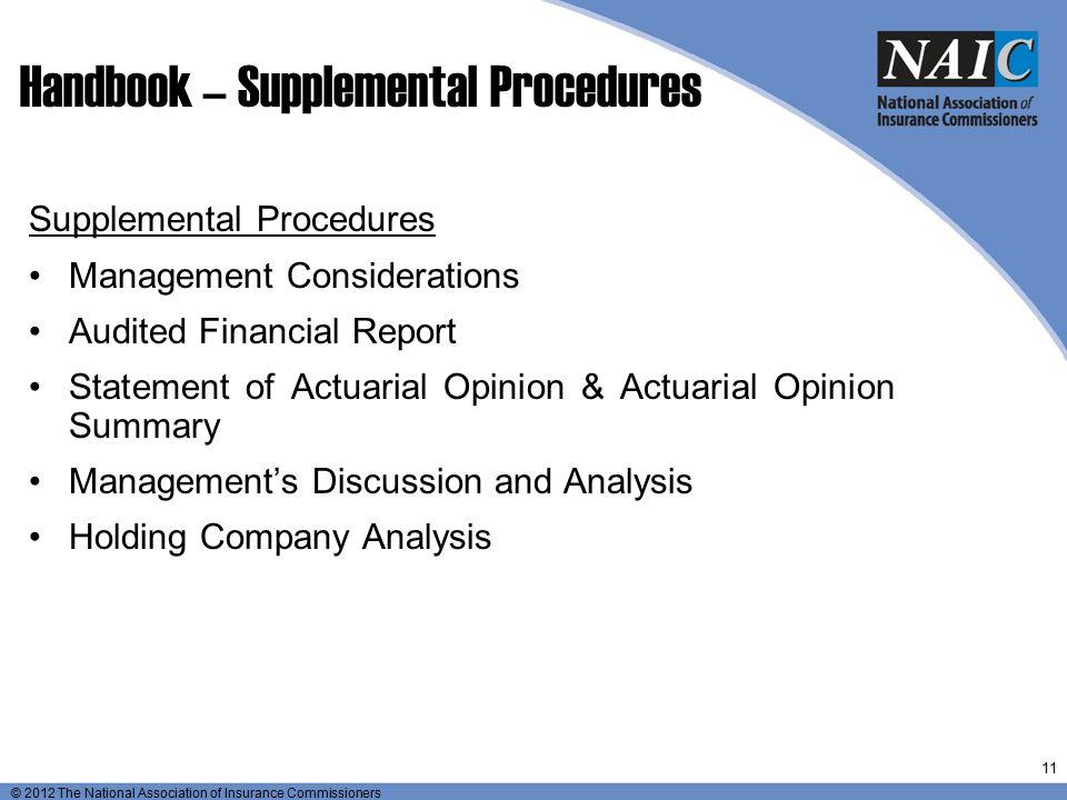 Handbook – Supplemental Procedures