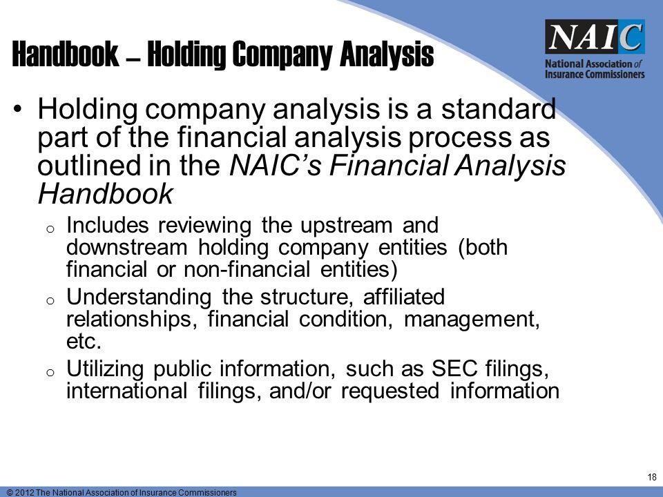 Handbook – Holding Company Analysis