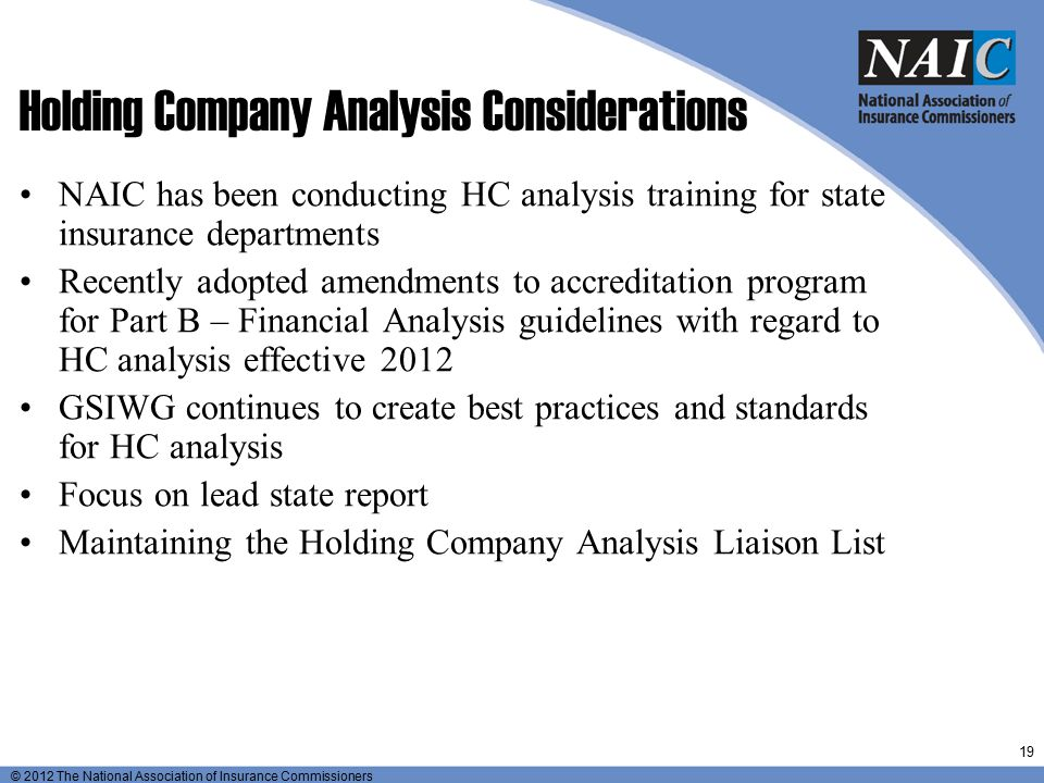 Holding Company Analysis Considerations