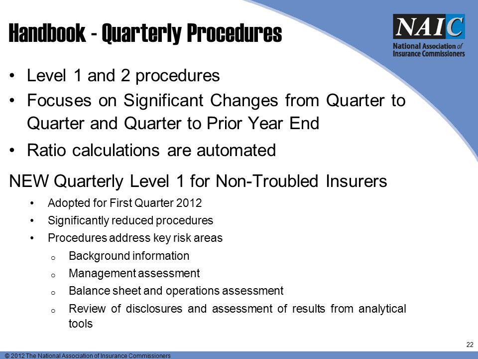 Handbook - Quarterly Procedures