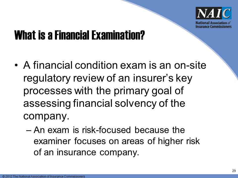 What is a Financial Examination
