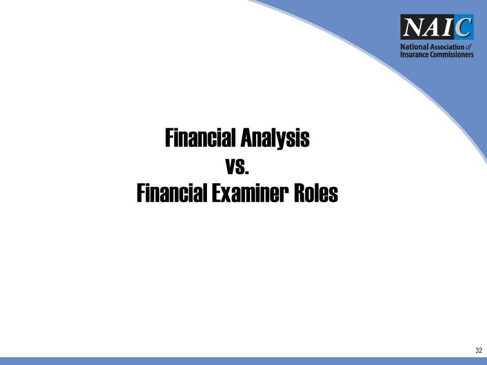 Financial Examiner Roles
