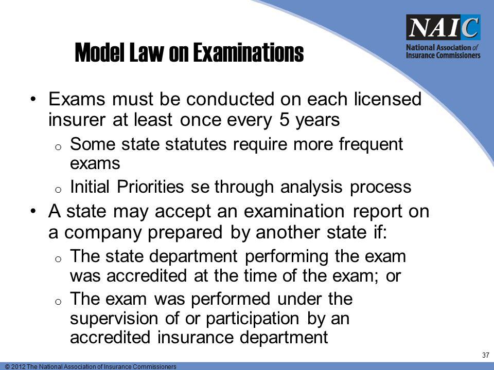 Model Law on Examinations
