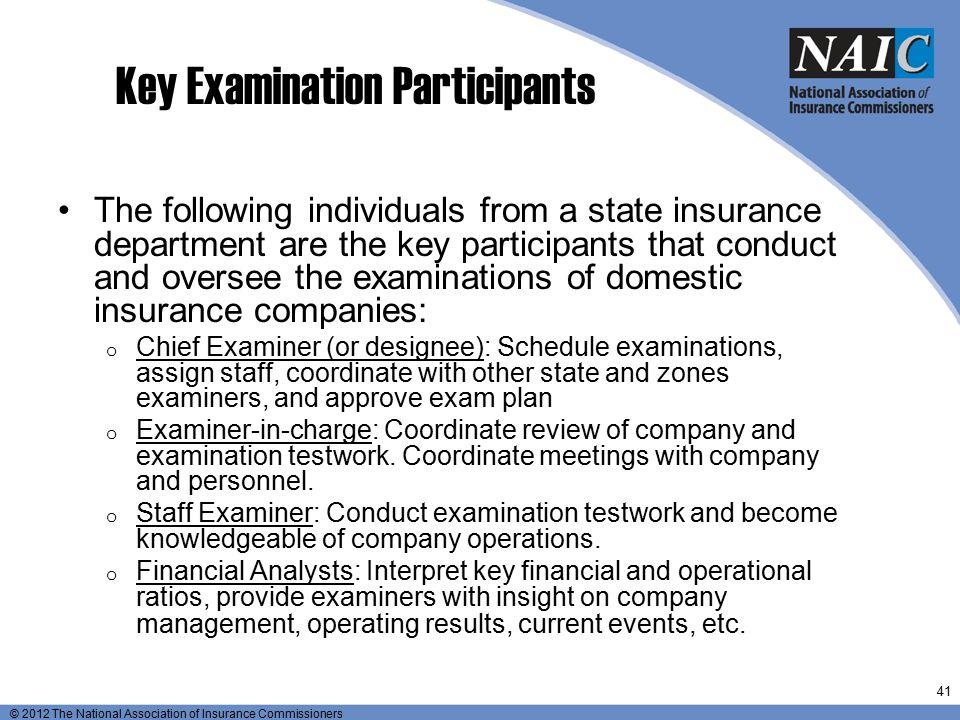 Key Examination Participants